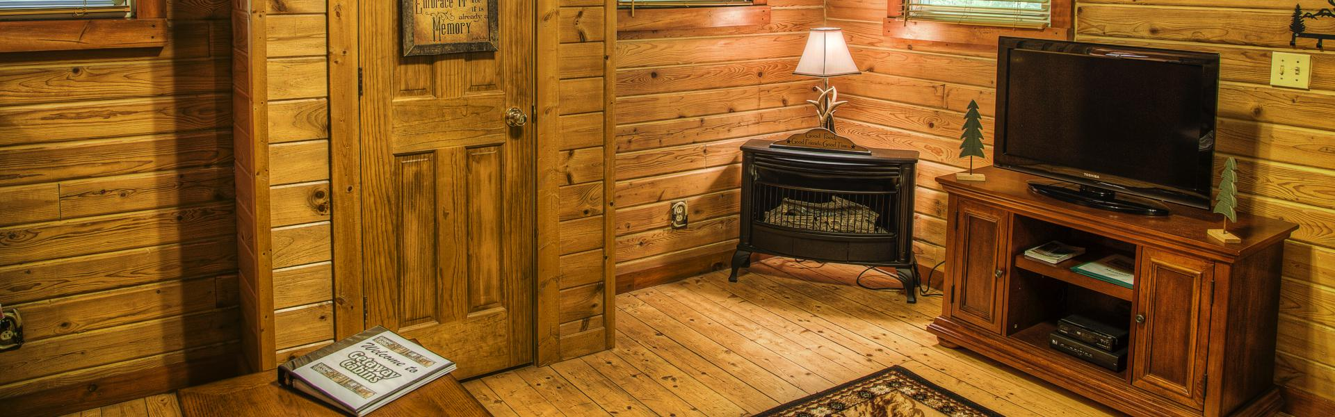 ohio rentals hills cabins rental edge in cabin kitchen forest hocking logan
